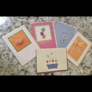 Lot Of 5 Blank Happy Mothers Day Greeting Cards